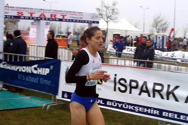 Rosa Morato winner of the 2007 European Clubs XC in Istanbul (Pat Butcher)