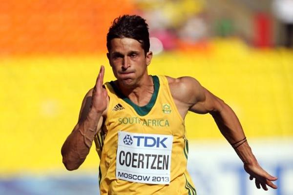 Willem Coertzen in the men's Decathlon 100m at the IAAF World Athletics Championships Moscow 2013 (Getty Images)