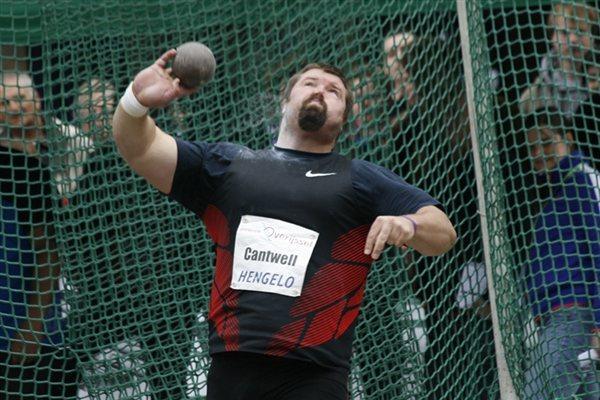 Christian Cantwell reaches a season's best 21.15m in Hengelo (Bob Ramsak)