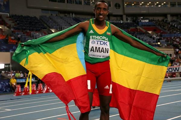 Mohammed Aman in the mens 800m Final at the IAAF World Athletics Championships Moscow 2013 (Getty Images)