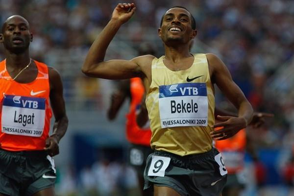 Kenenisa Bekele wins a slow tactical men's 3000m (Getty Images)
