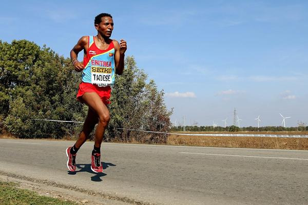Eritrea's Zersenay Tadese during the 2012 IAAF World Half Marathon Championships in Kavarna, Bulgaria (Getty Images)