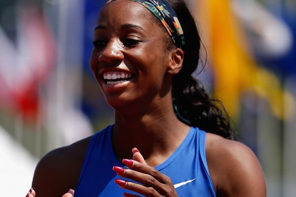 US sprint hurdler Kendra Harrison ()