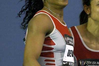 Gail Devers at the USATF Indoors (Kirby Lee)