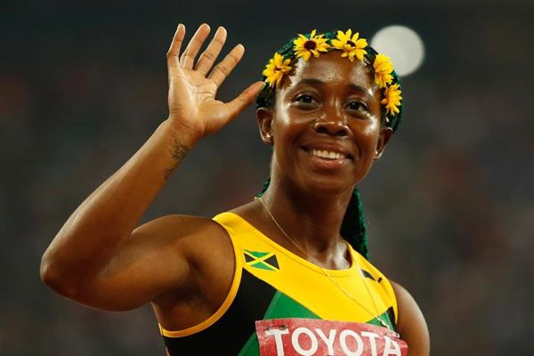 Jamaican sprinter Shelly-Ann Fraser-Pryce at the IAAF World Championships, Beijing 2015 (Getty Images)