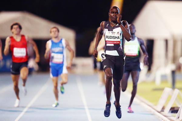 David Rudisha wins the 800m in Perth (Getty Images)