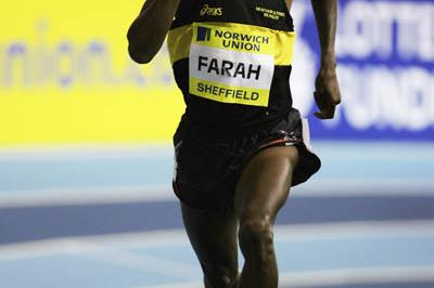Solo 300m victory for Mo Farah in Sheffield (Getty Images)