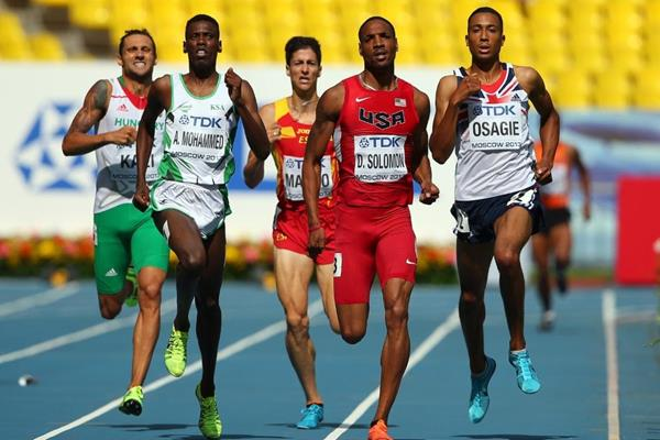 Action Shot Duane Solomon in the men's 800m at the IAAF World Athletics Championships Moscow 2013 (Getty Images)