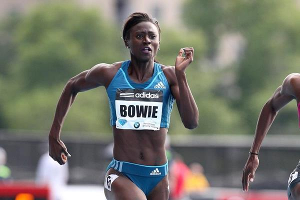 Tori Bowie at the 2014 IAAF Diamond League meeting in New York (Victah Sailer)