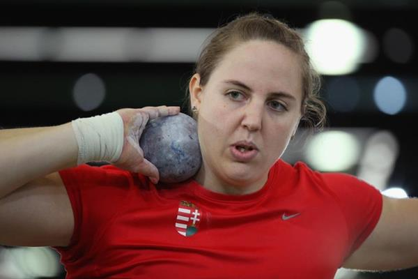 Anita Marton in the shot put at the IAAF World Indoor Championships Portland 2016 (Getty Images)