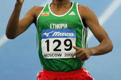 Kenenisa Bekele of Ethiopia wins the 3000m final (Getty Images)