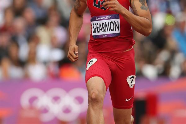 Wallace Spearmon of the United States competes in the Men's 200m Round 1 Heats on Day 11 of the London 2012 Olympic Games at Olympic Stadium on August 7, 2012 (Getty Images)