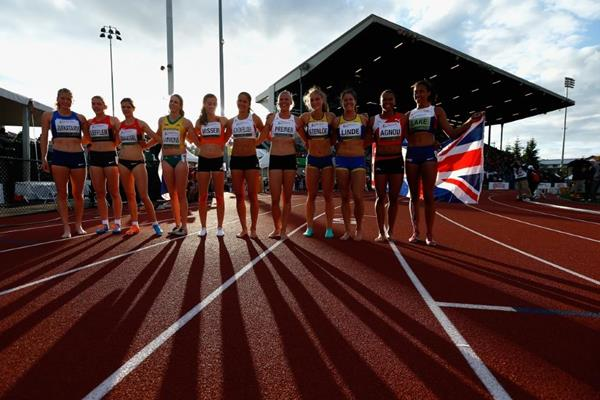 The heptathletes at the IAAF World Junior Championships, Oregon 2014 (Getty Images)