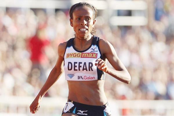 Ethiopia's Meseret Defar on her way to victory (Getty Images)