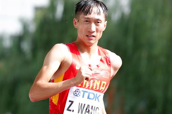 Wang Zhen in the 20km race walk at the IAAF World Championships, Beijing 2015 (Getty Images)