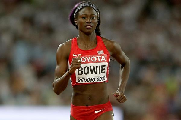 Tori Bowie in the women's 100m at the IAAF World Championships, Beijing 2015 (Getty Images)