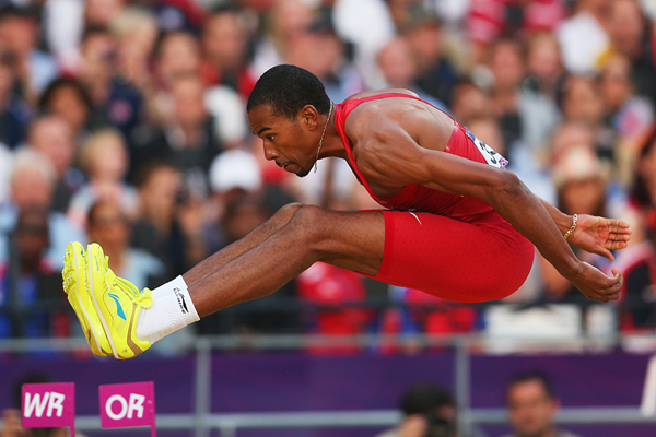 Christian Taylor in the triple jump at the London 2012 Olympic Games (Getty Images)