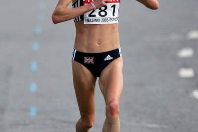 Paula Radcliffe of Great Britain on her way to winning gold in the women's marathon (Getty Images)