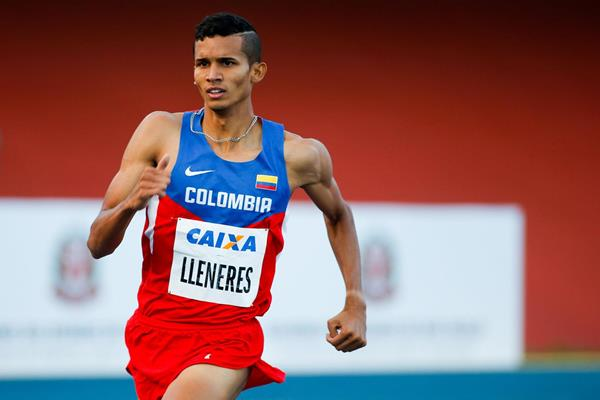 Rafith Rodriguez on his way to winning the 800m at the Ibero-American Championships (Getty Images)