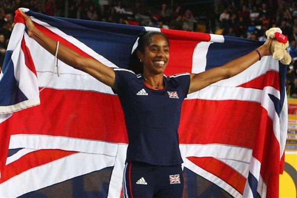 Yamile Aldama of Great Britain celebrates as she wins gold in the Women's Triple Jump Final during day two - WIC Istanbul (Getty Images)