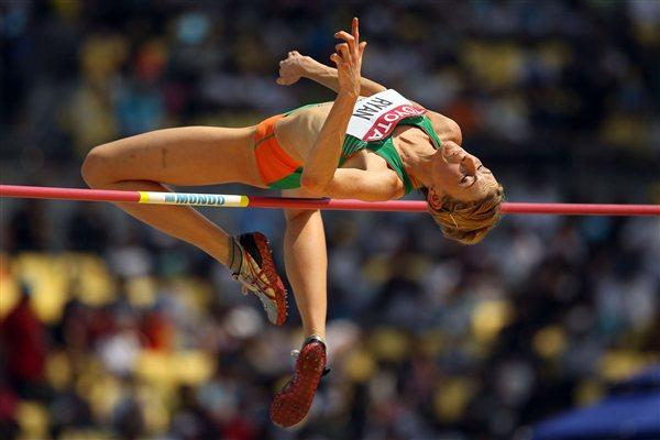 Deirdre Ryan of Ireland sets a national record 1.95 to qualify for the women's High Jump final (Getty Images)