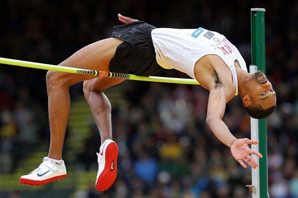 Jamie Nieto leaping to the US title in Eugene (Getty Images)