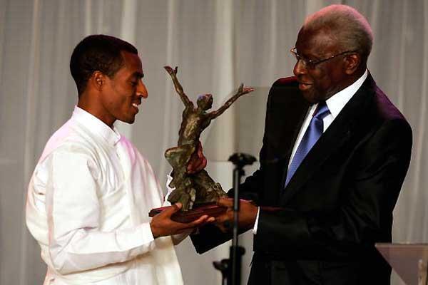 Kenenisa Bekele and Lamine Diack - World Athletics Gala (Getty Images)
