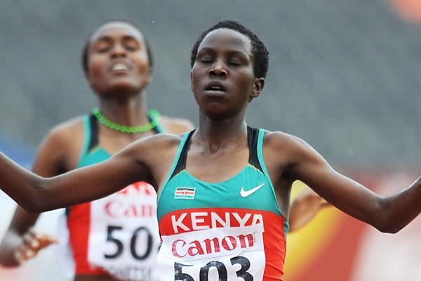 Kenya's Rosefline Chepngetich wins the steeplechase (Getty Images)
