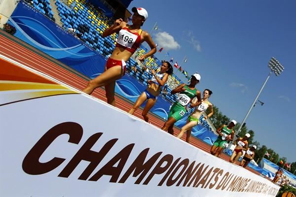 The women's 10,000m race walk in Moncton (Getty Images)