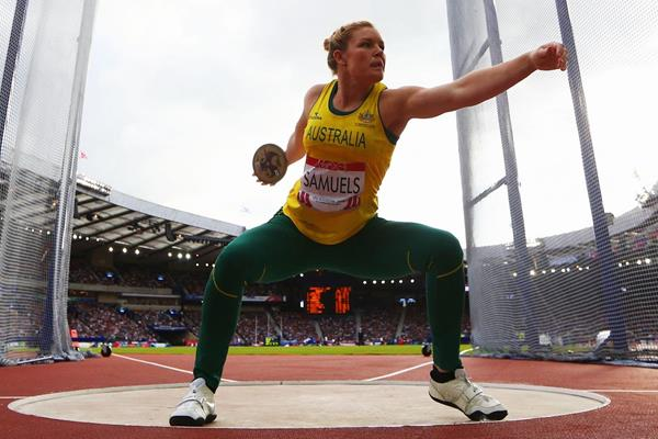 Dani Samuels at the 2014 Commonwealth Games (Getty Images)