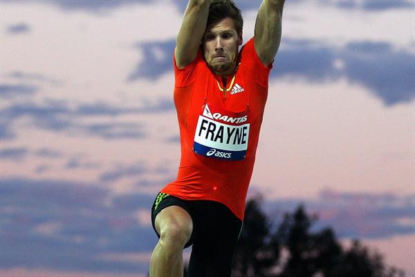 Henry Frayne competes in the 2012 Australian Olympic Trials (Getty Images )