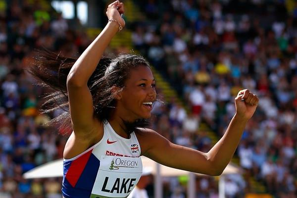 High jump winner Morgan Lake at the IAAF World Junior Championships, Oregon 2014 (Getty Images)