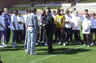 Prince Albert of Monaco at the Zepter Masterclass 1998 (© IAAF)