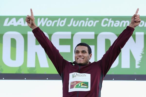 Hammer winner Ashraf Amgad Elseify at the IAAF World Junior Championships, Oregon 2014 (Getty Images)
