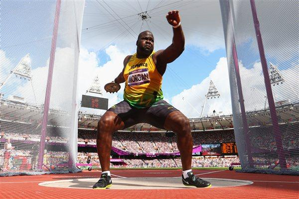Jason Morgan of Jamaica competes in the Men's Discus Throw qualification on Day 10 of the London 2012 Olympic Games at the Olympic Stadium on August 6, 2012 (Getty Images)