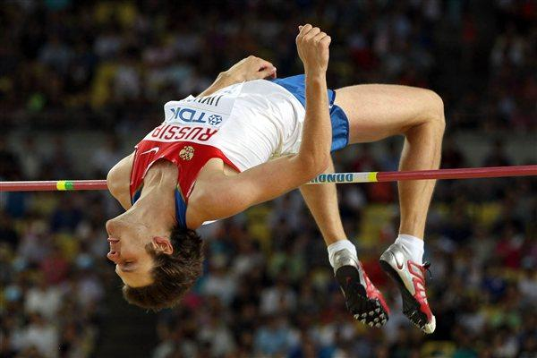 Ivan Ukhov of Russia competes in the men's high jump final during day six  (Getty Images)