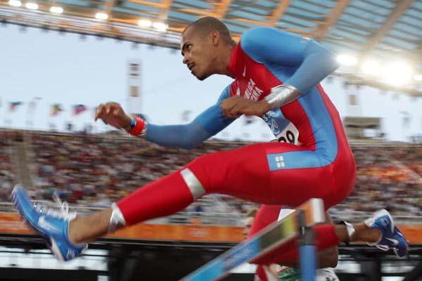 Felix Sanchez in action in the men's 400m Hurdles (Getty Images)