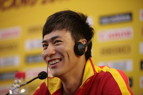 Chen Ding at the Taicang 2014 press conference (Getty Images)