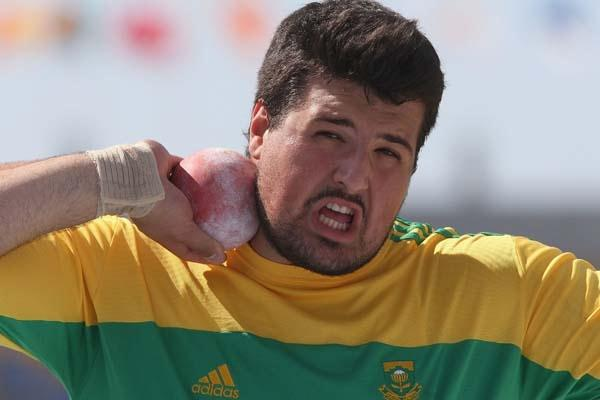 Orazio Cremona of South Africa in action during the shot put qualification (Getty Images)