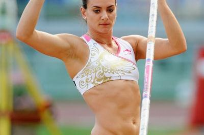 Yelena Isinbayeva entered the competition once all of her opponents went out, and won with 4.85m (Getty Images)