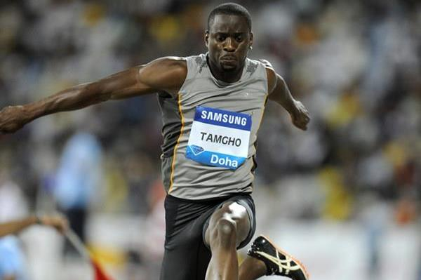 Teddy Tamgho debuts with a solid 17.49m leap to win in Doha (Jiro Mochizuki)