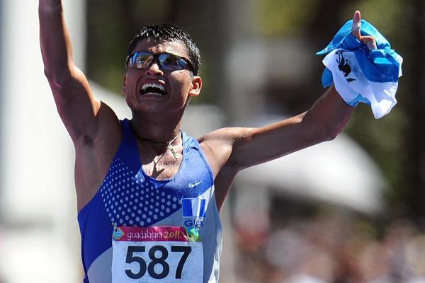 Guatemalan Erick Barrondo strikes Pan American Games gold in the 20Km Race Walk in Guadalajara (Getty Images)