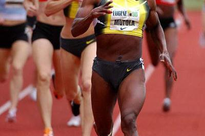 Yet another win for Maria Mutola in Eugene (Kirby Lee)