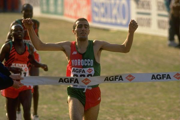 Khalid Skah winning at the 1991 IAAF World Cross Country Championships (Getty Images)