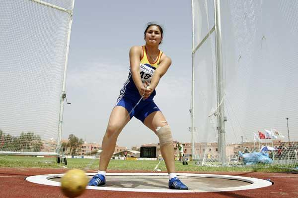 Bianca Perie of Romania during the Hammer qualifications at the World Youth Championhips (Getty Images)