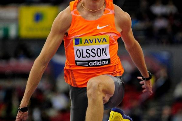 Continuing his comeback Christian Olsson takes a solid 17.32m win in Birmingham (Getty Images)
