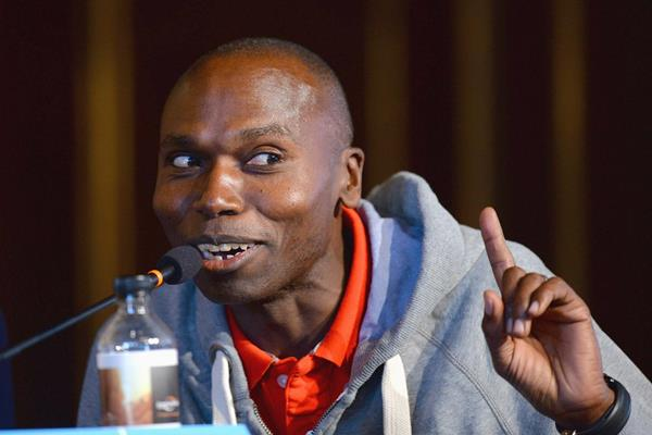Wilson Kipketer at the press conference ahead of the IAAF/AL-Bank World Half Marathon Championships in Copenhagen (Getty Images)