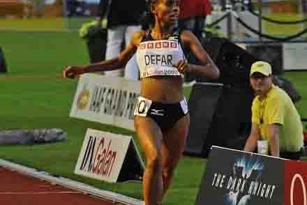 Meseret Defar so close to 5000m record in Stockholm (Hasse Sjögren)