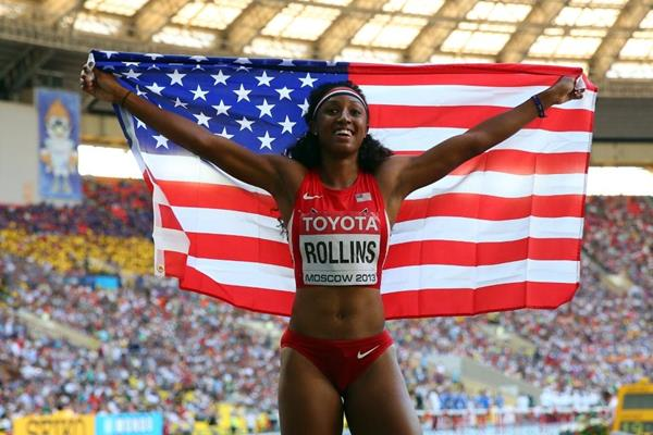 Brianna Rollins in the womens 100m Hurdles Final at the IAAF World Athletics Championships Moscow 2013 (Getty Images)