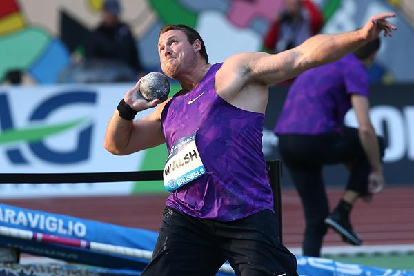 Tom Walsh at the 2015 IAAF Diamond League final in Brussels (Giancarlo Colombo)